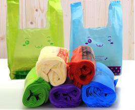 Chinese Factory Printed Plastic HDPE T-Shirt Bag /Vest Bag/Flat Bags on Roll pictures & photos