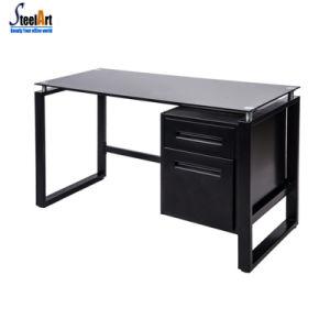 China Office Furniture Modern Glass Computer Desk China Computer Desk Office Computer Desk