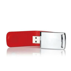 Logo Embossed Hot Leather USB Flash Drive pictures & photos