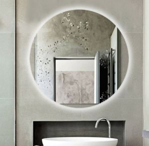 China Smart Bathroom Mirror With Led Light Bluetooth Temperature