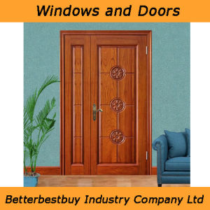 Entrance Solid Wood Door with Affordable Price pictures & photos