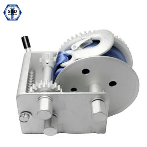 1000kg Hand Winch Zinc Plated with Cable