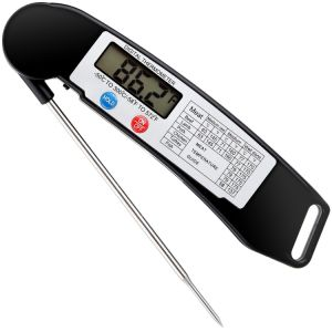 Super Fast Digital Electronic Food Cooking Barbecue Meat Thermometer with Collapsible Internal Probe pictures & photos