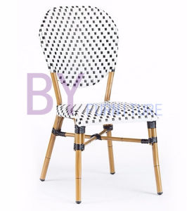 Wholesale Aluminium Modern Double Color Rattan Dining Chair