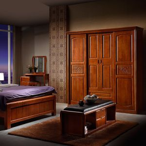 Modern Wood Wardrobe Cabinet Designs for Bedroom (GSP9-020) pictures & photos