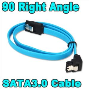 90 Degree Right-Angle SATA 3.0 Cable 6.0 Gbps with Locking Latch Blue & Red SATA III Cable pictures & photos