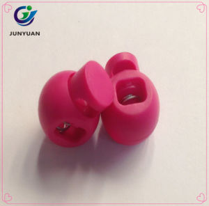 Round Ball Shaped Stop Sliding Cord Fastener Locks Buttons pictures & photos