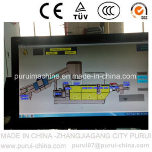 Waste Plastic Recycling Granulation Machine with PLC Touch Screen pictures & photos