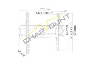 Metal TV Mount with Max Vesa 400X400 mm (CT-PLB-711) pictures & photos