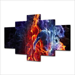 HD Printed Flame Figures Group Painting Canvas Print Room Decor Print Poster Picture Canvas Mc-025 pictures & photos
