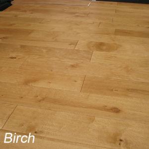 China Solid Hardwood Flooring Birch Handscraped Wood Flooring