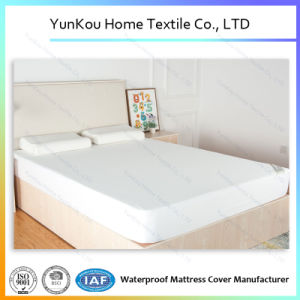 Bamboo Fiber Knitted Hypoallergenic Fitted Sheet Waterproof TPU Lamniated pictures & photos