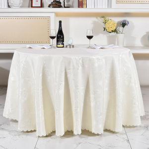Luxury Polyester Round/ Rectangle Table Cloth for Hotel Restaurant (DPF107107) pictures & photos