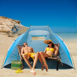 "Easyup Outdoor Portable Beach Cabana Tent Sun Shelter (Sunshade, Blue, 94.5""L X 47.2""W X 55""H)"