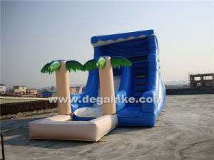 Inflatable Palm Tree Slide with Water Pool for Family/Inflatable Summer Water Slide