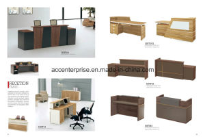 New Design and Fashion Office Furniture Wooden Reception Table