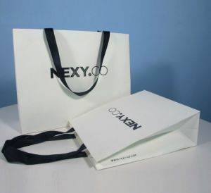 Printed Shopping Paper Gift Bag with Hot Stamping or High Glossy Finish