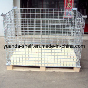 Warehouse Wire Mesh Folding Storage Mesh Cage pictures & photos