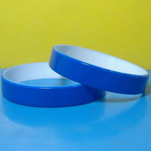 Customized 1/2mm Color Coated Silicone Bracelets pictures & photos
