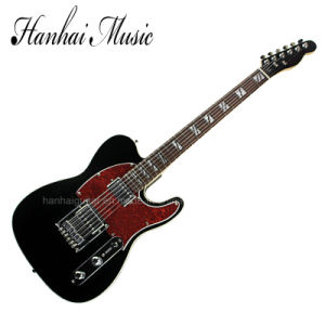 Hanhai Music / Black Tele Style Electric Guitar with Double Binding pictures & photos