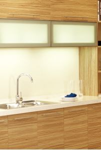 Melamine Kitchen Cabinets Furniture with Budget Project (zg-049) pictures & photos