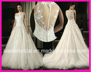 Sheer Back Lace Bridal Ball Gown Tulle Wedding Dresses W20150177 pictures & photos