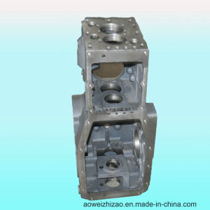 Customized Ductile Iron Casting Gearbox by Sheel Casting, ISO 9001: 2008, Awkt-0004