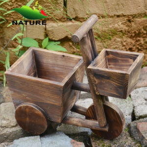 Wood Car Cute Flower Planter for Indoor and Outdoor