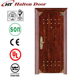 Security Steel Door with Nice Decoration Pattern