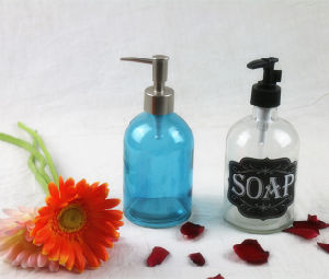 Glass Hand Soap Dispenser Bottle/Lotion Bottle with Pump