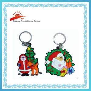PVC Keychains for Christmas Gifts (SMK2346)