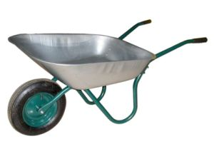 Gardening Painted Steel Wheel Barrow