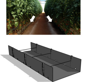 PVC Soilless Growing Troughing System