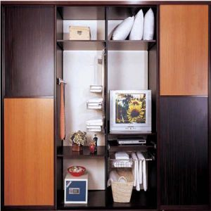Solide Wooden Wardrobe for The Living Room Furniture with Locker