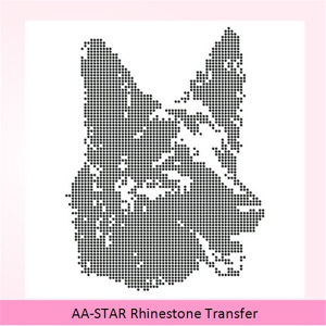 large rhinestone transfer iron on hotfix diamanté motif transfer
