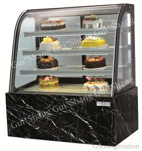 Curved Glass Cake Display Cooler CE RoHS