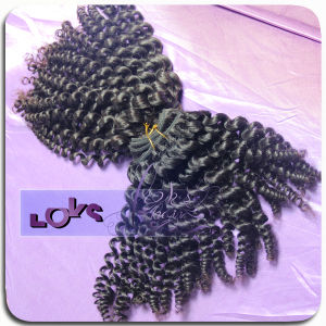 5A Grade Natural Color Curly 100% Real Human Hair Weaving