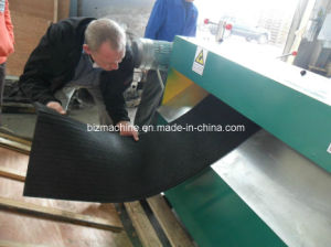 Reclaimed rubber sheet slitting machine pictures & photos