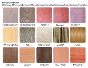 Natural Red Oak Veneer Fancy Plywood for Decoration pictures & photos