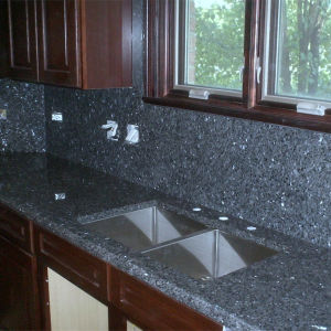 Etonnant Customize Blue Pearl Granite Countertop And Backsplash