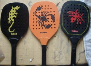 Set Por With Holes Wooden Racket