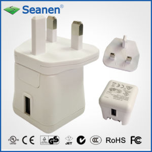 5VDC 2A White Color Travel Charger with UK/GS AC Pin pictures & photos