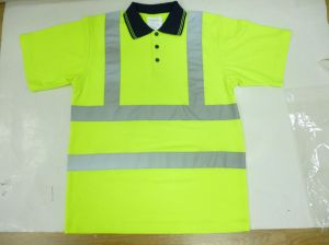 Reflective Polo Shirt with High Luster Tape, Bird Eye Fabric pictures & photos