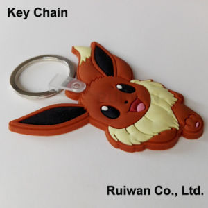 Custom 3D PVC Rubber Keychain for Promotional Gifts pictures & photos