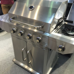 High Quality Full Stainless Steel 4 Burner Gas Grill BBQ pictures & photos