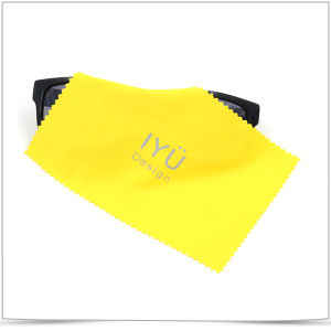 Hot Stamping Printing Microfiber Sunglasses Cleaning Cloth pictures & photos