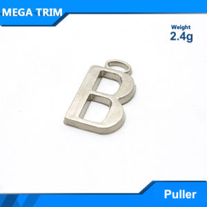 Silver Letter Disign Metal Zipper Puller pictures & photos