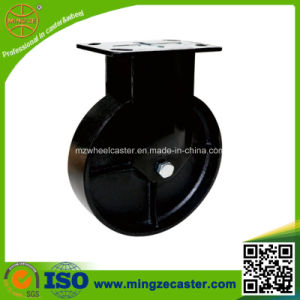 250mm Black Color Cast Iron Wheel Caster pictures & photos