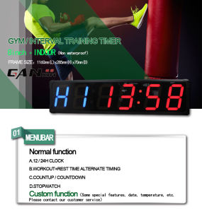 [Ganxin] 8 Inch Large Screen Design Fitness LED Digital Clock