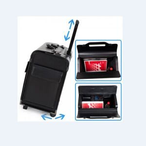 PU Travel Suitcase with Trolley and Wheels pictures & photos